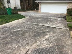before driveway replacement photo